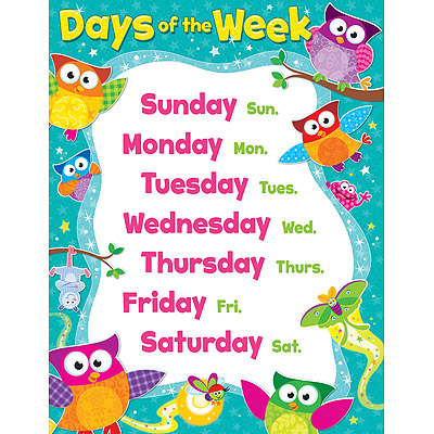 Days of the Week Owl-Stars!